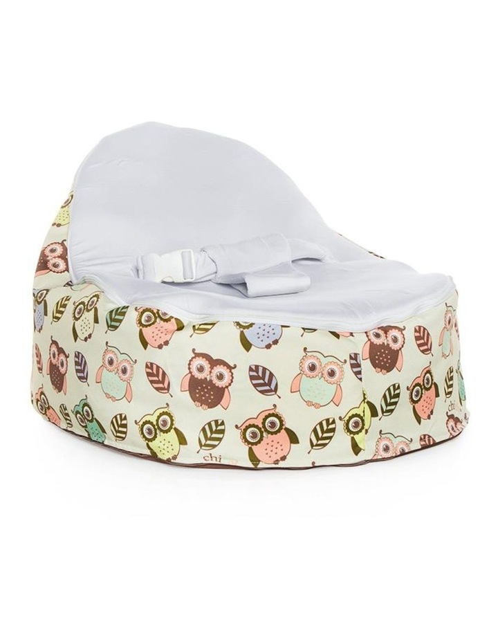 HOOT! Snuggle Pod Baby Bean Bag Stone image 1