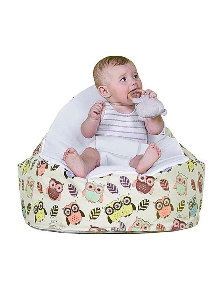 HOOT! Snuggle Pod Baby Bean Bag Stone image 2