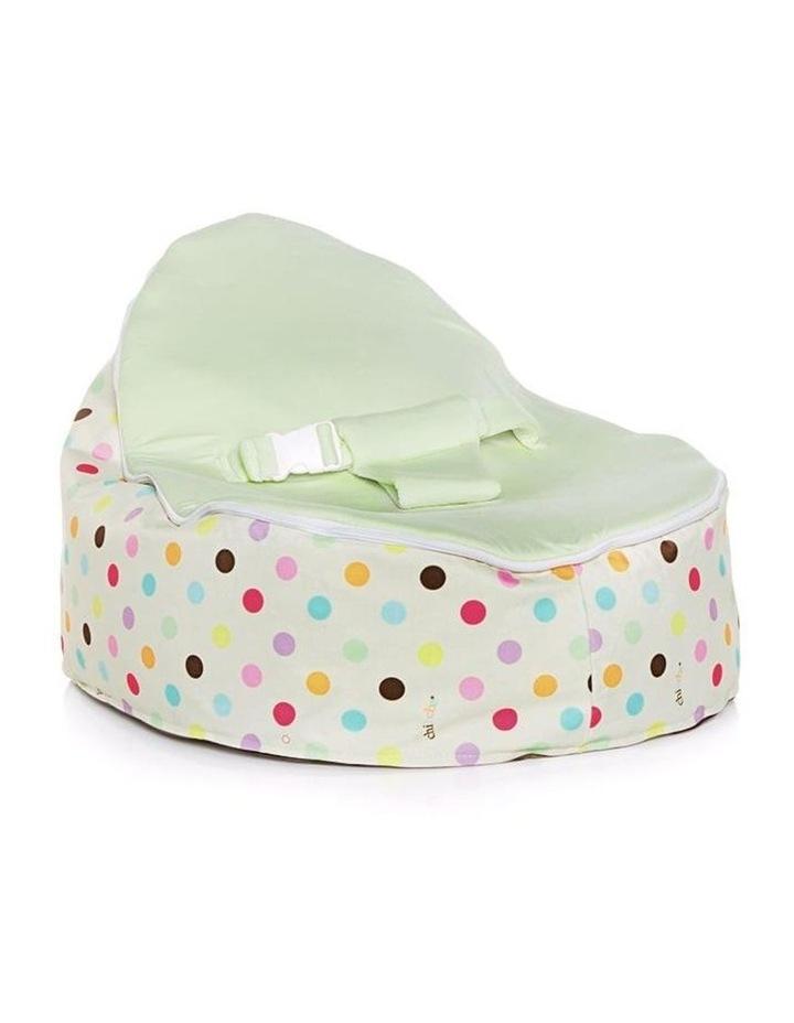 Sprinkles Snuggle Pod Baby Bean Bag - Lime image 1