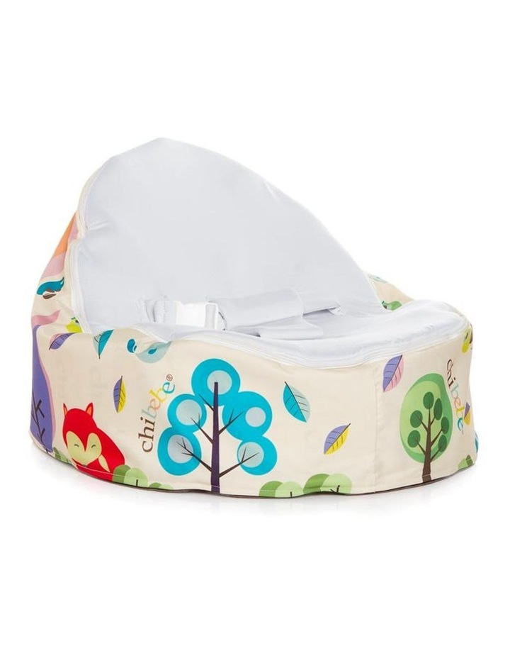 Moxie Foxie Snuggle Pod Baby Bean Bag Stone image 1