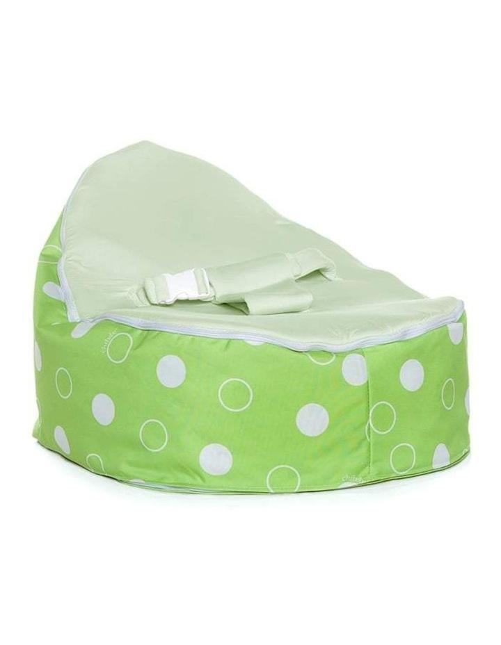 Green Polka Snuggle Pod Baby Bean Bag Lime image 1