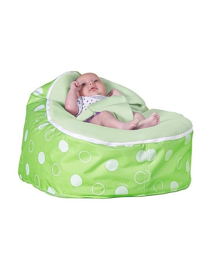 Green Polka Snuggle Pod Baby Bean Bag Lime image 2