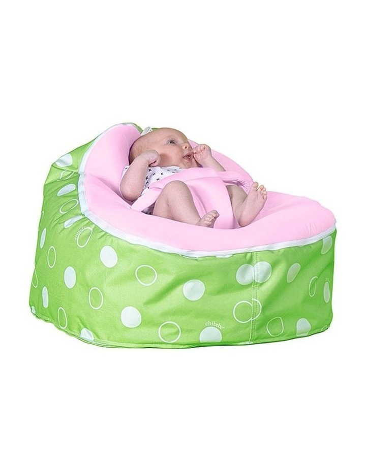 Green Polka Snuggle Pod Baby Bean Bag Pink image 2
