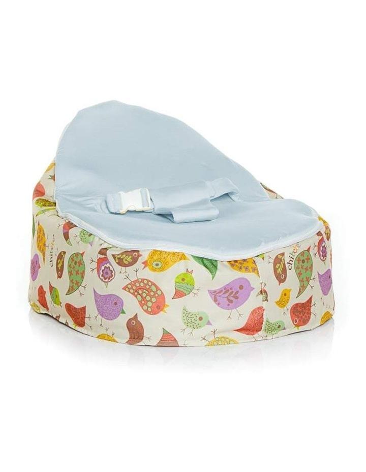 Chirpy Snuggle Pod Baby Bean Bag Blue image 1
