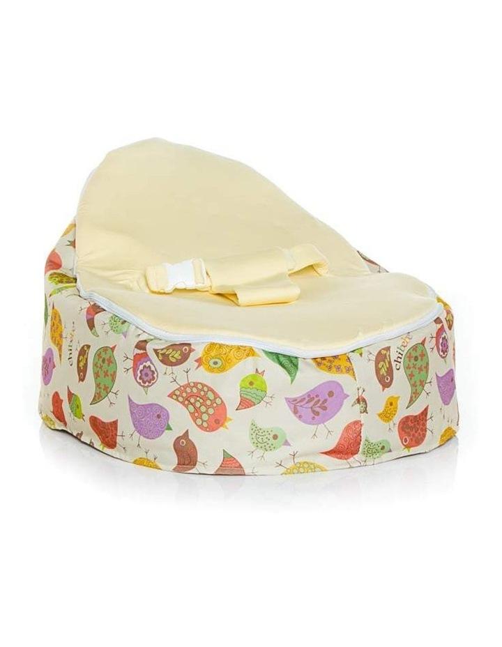 Chirpy Snuggle Pod Baby Bean Bag Cream image 1