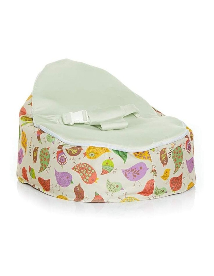 Chirpy Snuggle Pod Baby Bean Bag Lime image 1