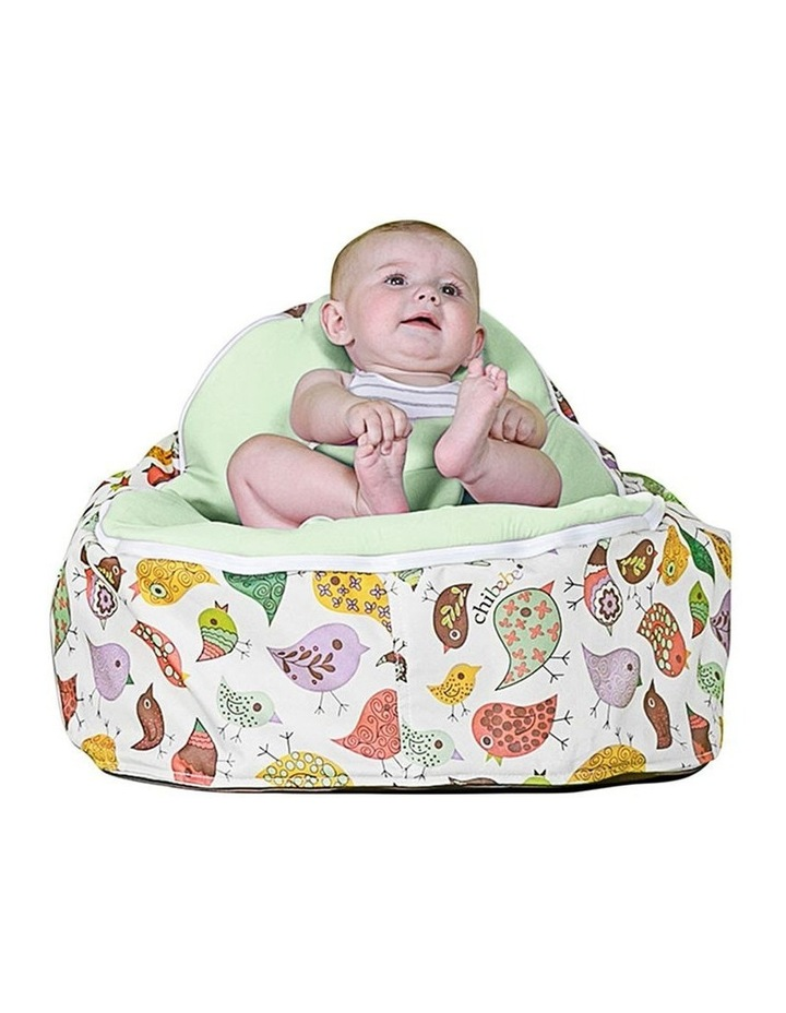 Chirpy Snuggle Pod Baby Bean Bag Lime image 2