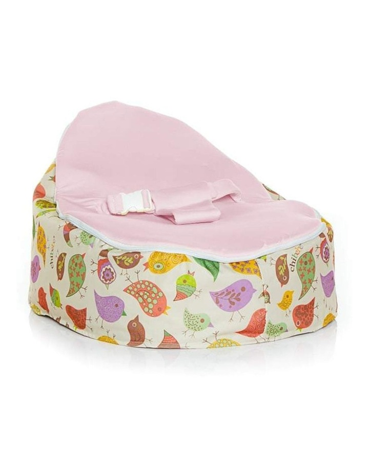 Chirpy Snuggle Pod Baby Bean Bag Pink image 1