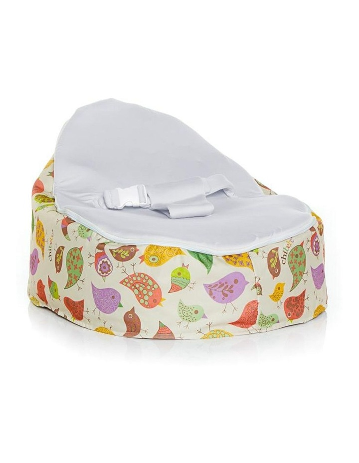 Chirpy Snuggle Pod Baby Bean Bag Stone image 1