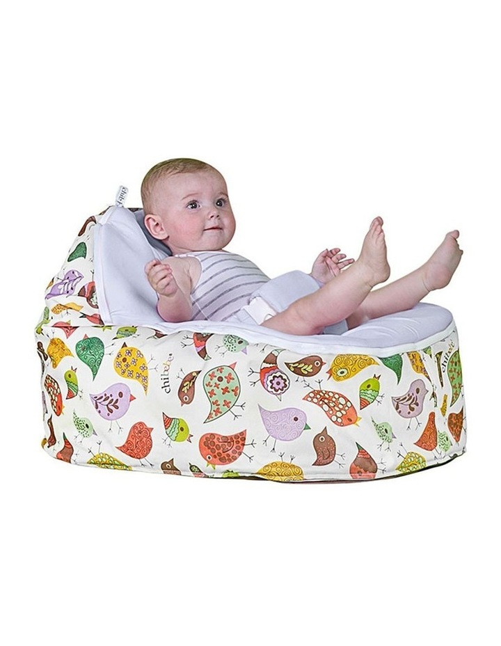 Chirpy Snuggle Pod Baby Bean Bag Stone image 2