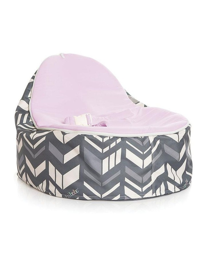 Chevron Snuggle Pod Baby Bean Bag - Grape image 1