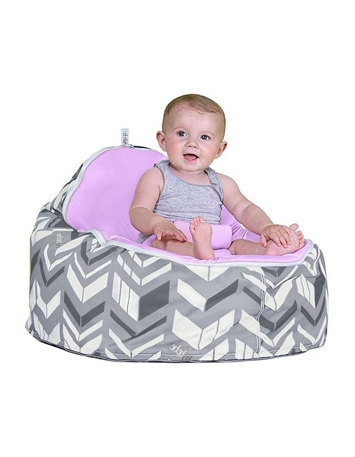 Chevron Snuggle Pod Baby Bean Bag - Grape image 2