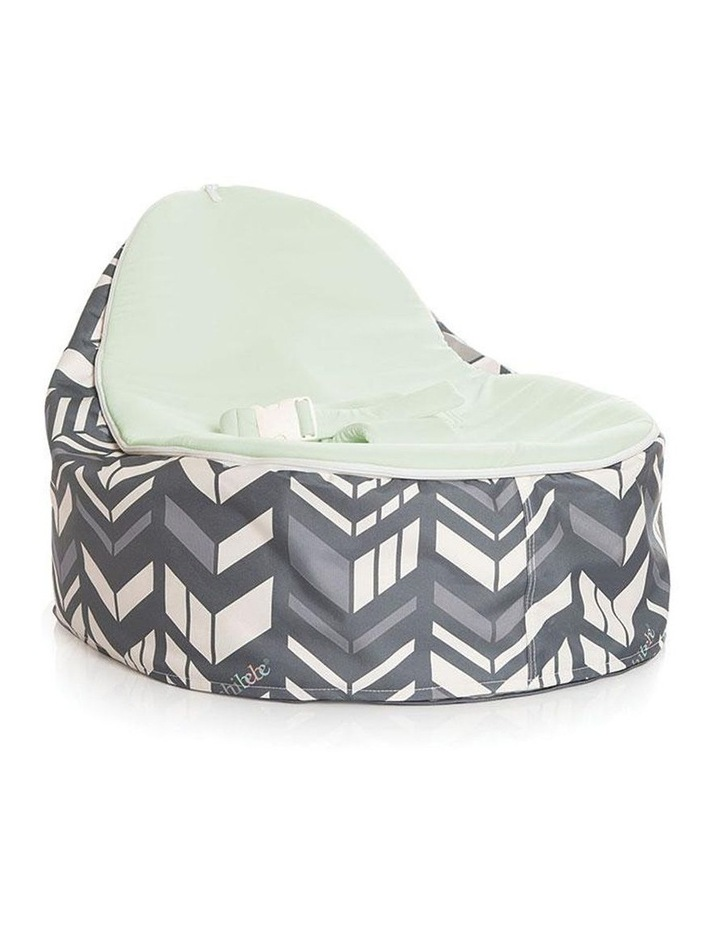 Chevron Snuggle Pod Baby Bean Bag - Lime image 1