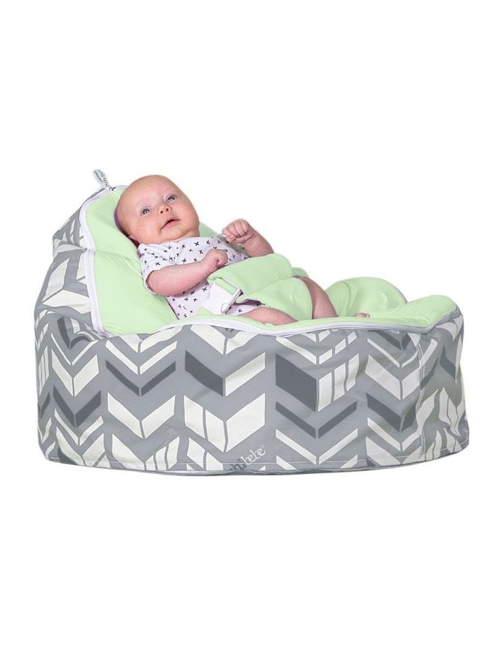 Chevron Snuggle Pod Baby Bean Bag - Lime image 2
