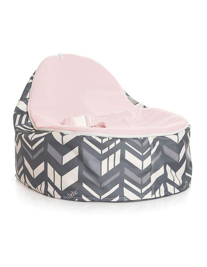 Chevron Snuggle Pod Baby Bean Bag - Pink image 1