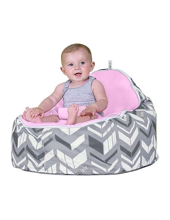 Chevron Snuggle Pod Baby Bean Bag - Pink image 2