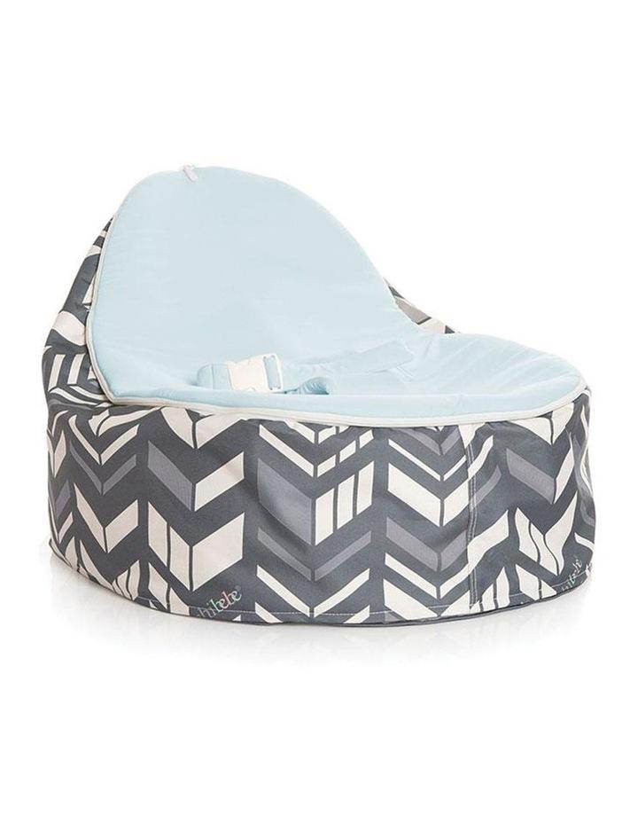 Chevron Snuggle Pod Baby Bean Bag - Blue image 1