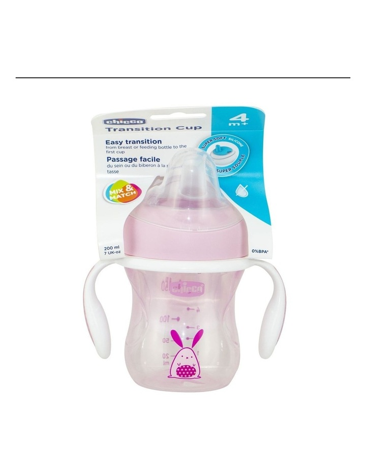 Transition Cup With Handle 4 Months  Girl 1Pk 200Ml image 1