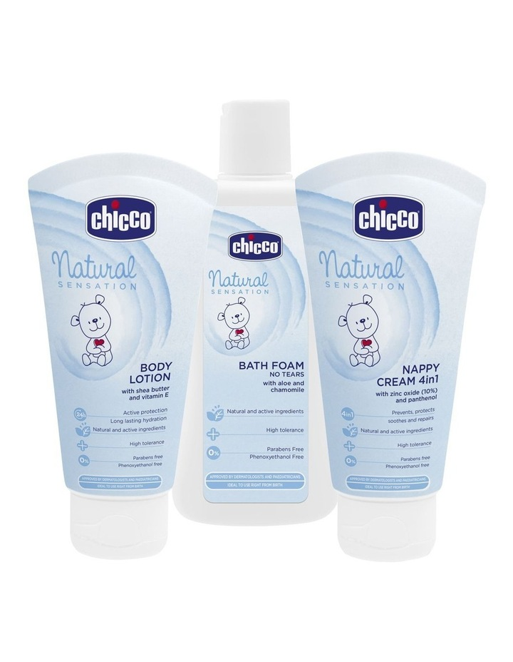 Natural Sensations Essentials Pack: Bath Foam, Nappy Cream, Body Lotion image 1