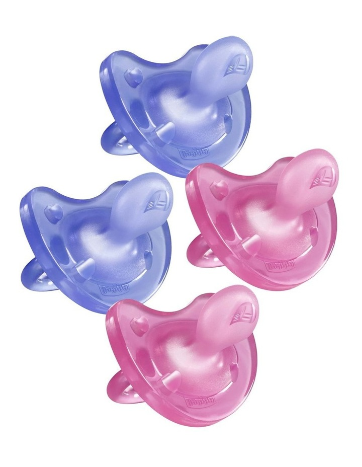 Physio Soft Soother 6-16M 2 X 2Pk Girl image 1