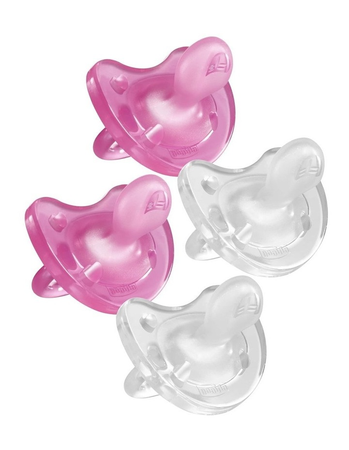 Physio Soft Soother 0-6M 2 X 2Pk Girl image 1