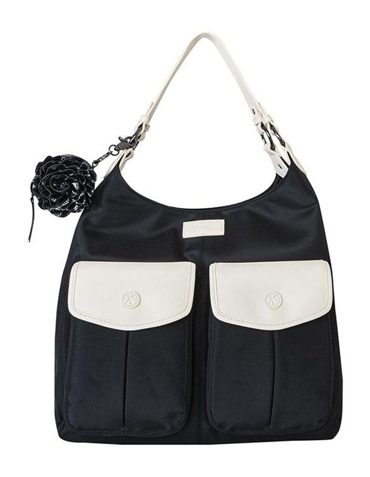 Alice Shoulder Baby Bag Black and Cream image 1