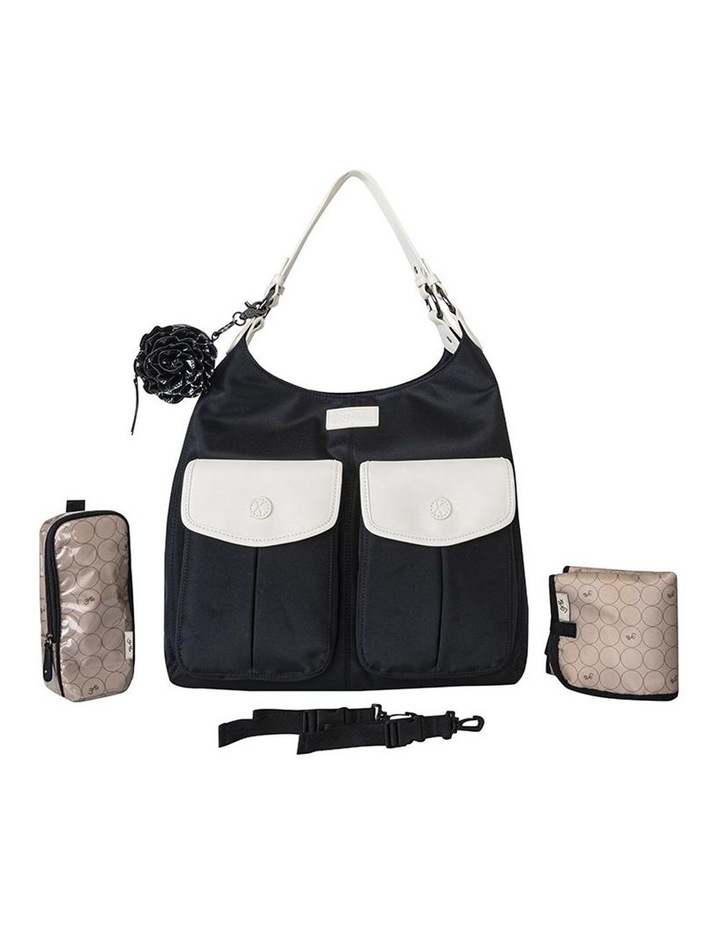 Alice Shoulder Baby Bag Black and Cream image 2