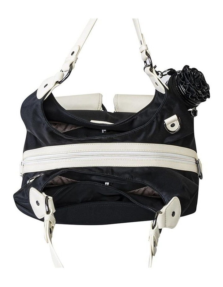 Alice Shoulder Baby Bag Black and Cream image 3