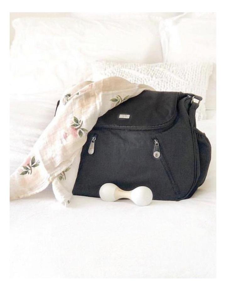Zoe Snowflake Black Baby Bag image 3