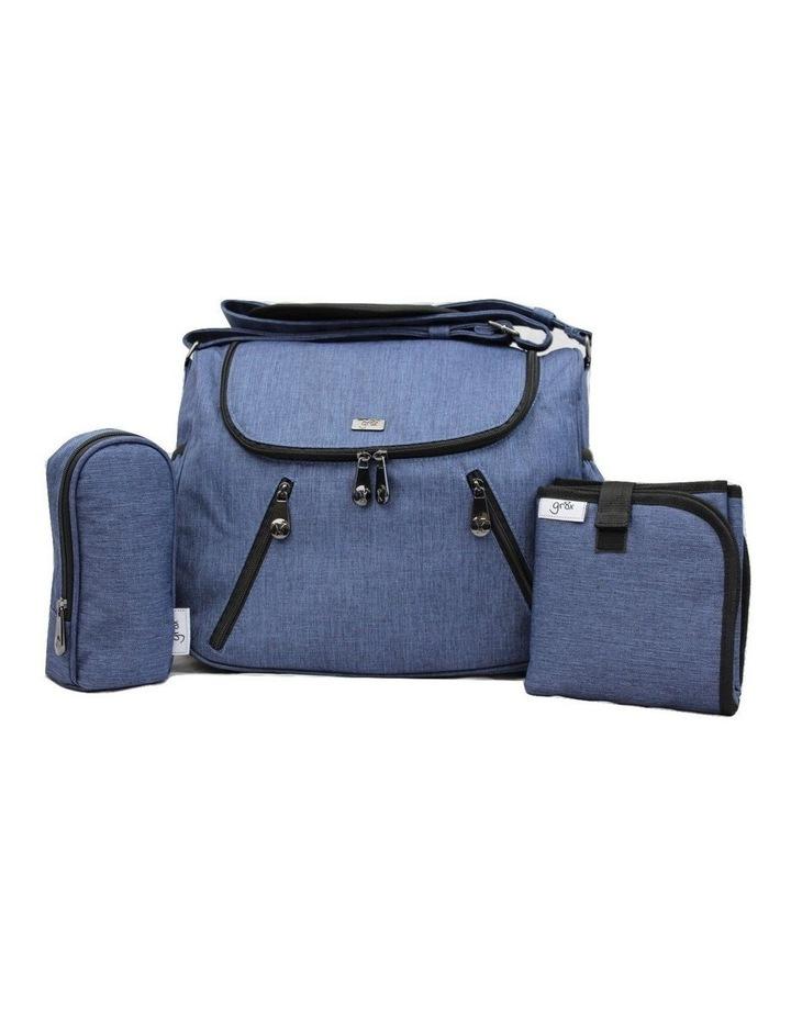 Zoe Snowflake Blue Baby Bag image 1