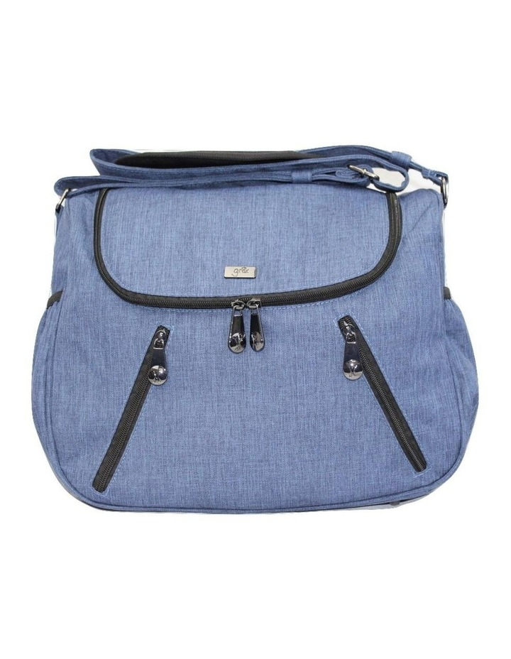 Zoe Snowflake Blue Baby Bag image 2