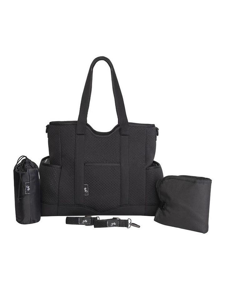 Lulu Neoprene Napy Bag Tote Black image 2