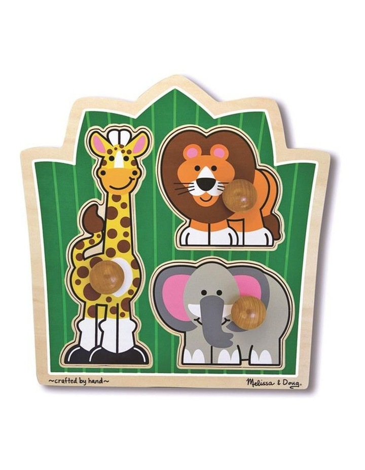 Jumbo Knob Puzzle - Jungle Friends image 1