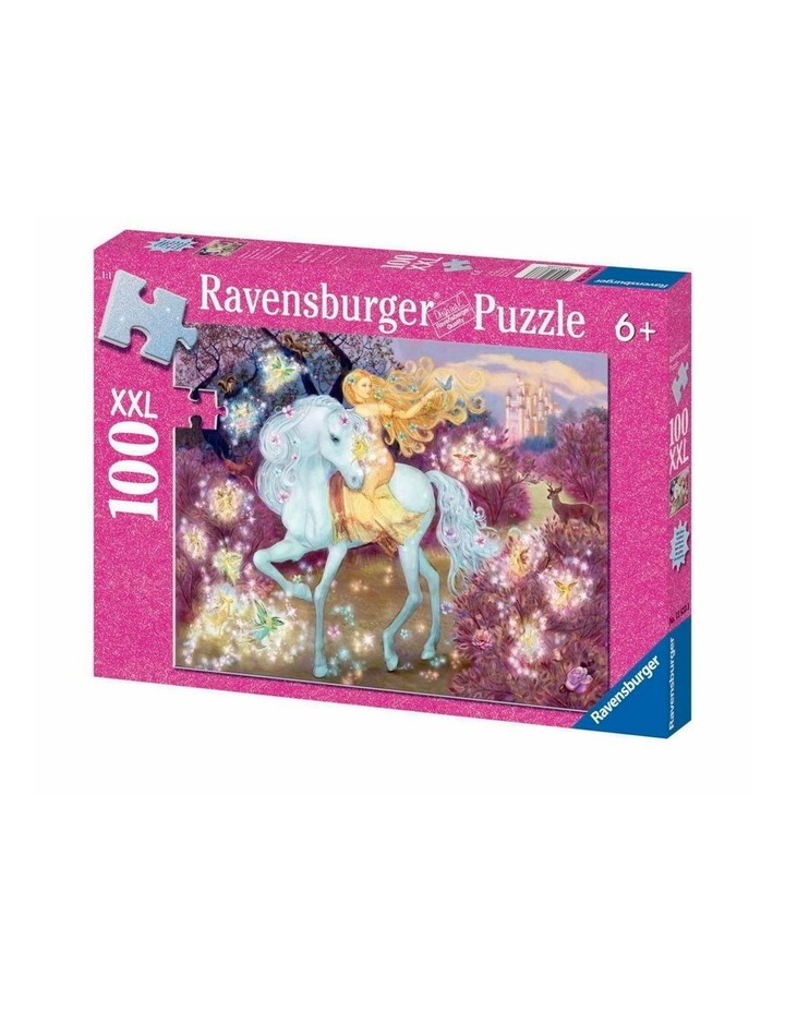 Riding in the Woods Glitter Puzzle 100pc image 1