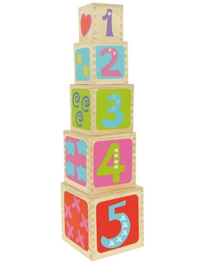 Boikido 5 Wooden Cubes Stacking Pyramid image 1