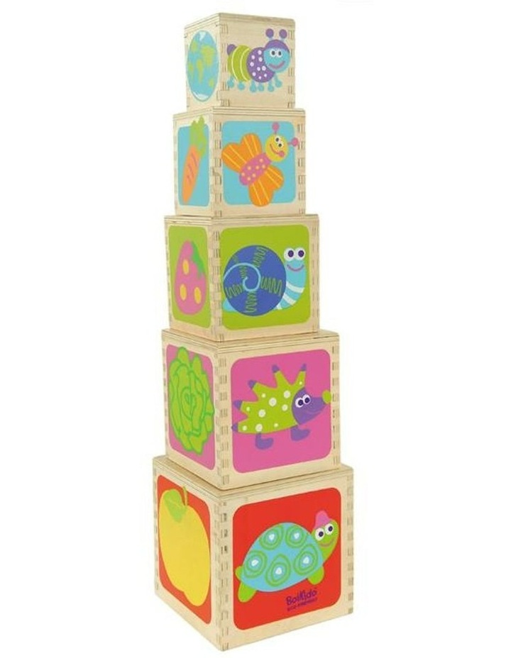 Boikido 5 Wooden Cubes Stacking Pyramid image 3