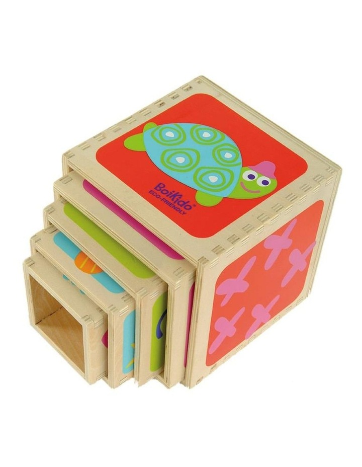 Boikido 5 Wooden Cubes Stacking Pyramid image 4