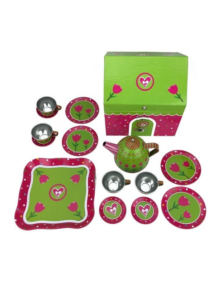 Tulip House Tin Tea Play Set 15 Pieces image 2