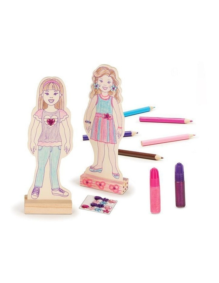 Decorate-Your-Own - Wooden Fashion Dolls image 2