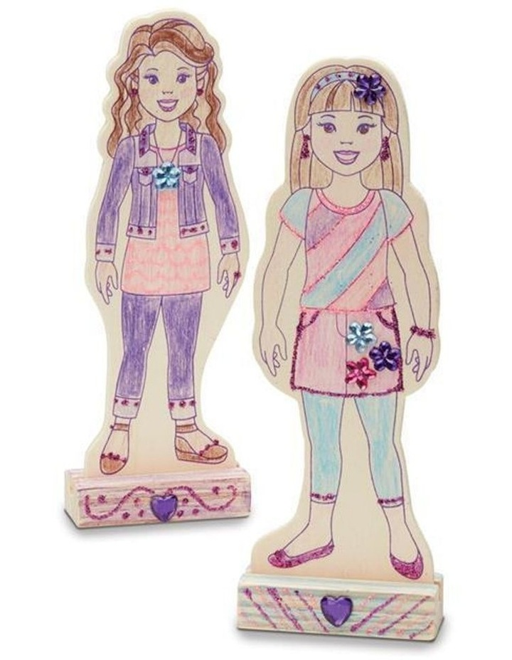Decorate-Your-Own - Wooden Fashion Dolls image 3