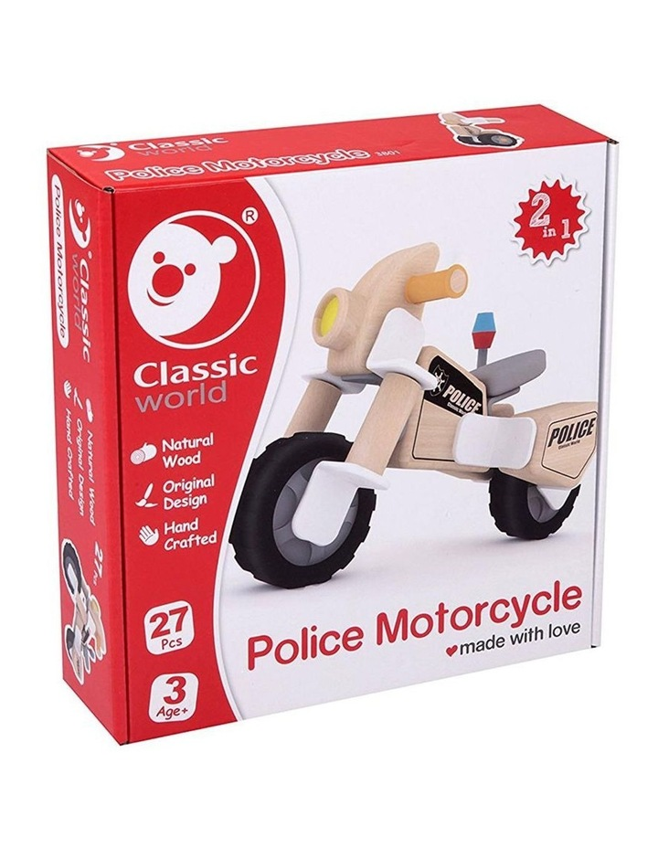 Police Motorcycle Building Set image 2