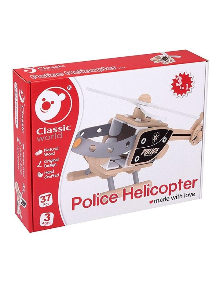 Police Helicopter Building Set image 2