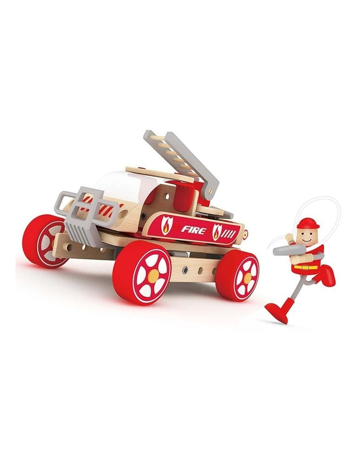 Fire Engine and Firefighter Building Playset image 1