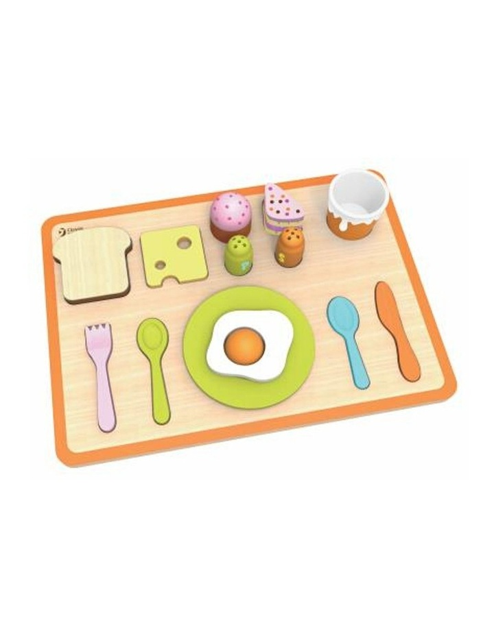 Wooden Pretend Play Toy - Breakfast Tray image 1