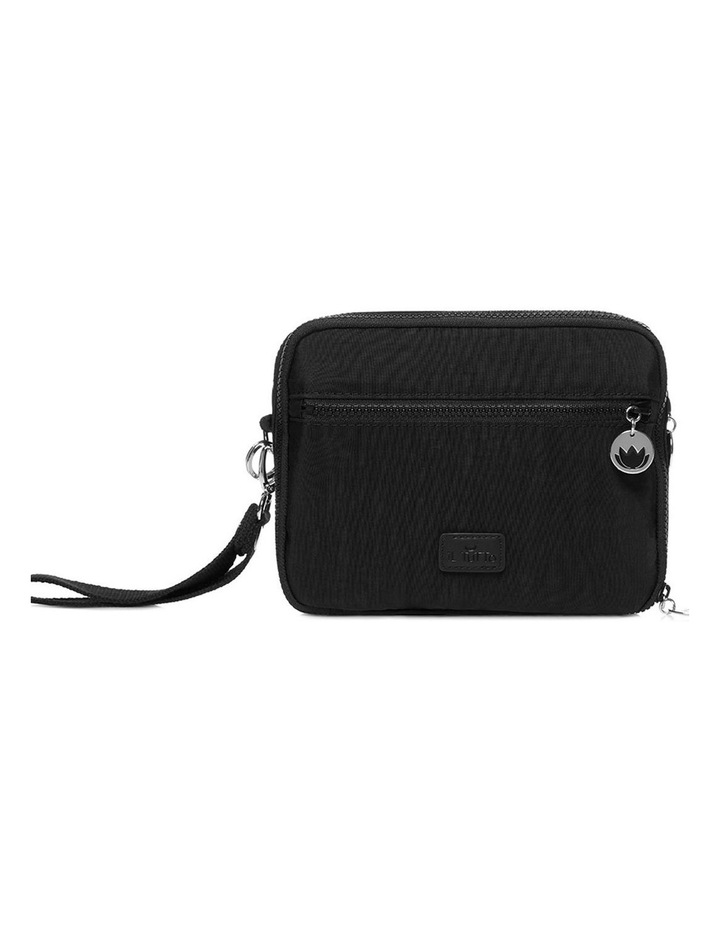 Milo all-in-one Nappy Changer Bag in Black/Silver image 1