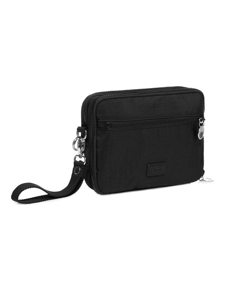 Milo all-in-one Nappy Changer Bag in Black/Silver image 2
