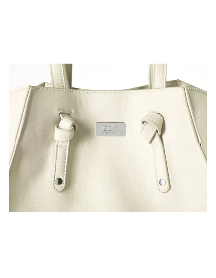 Easy Access Tote Baby Bag White image 3