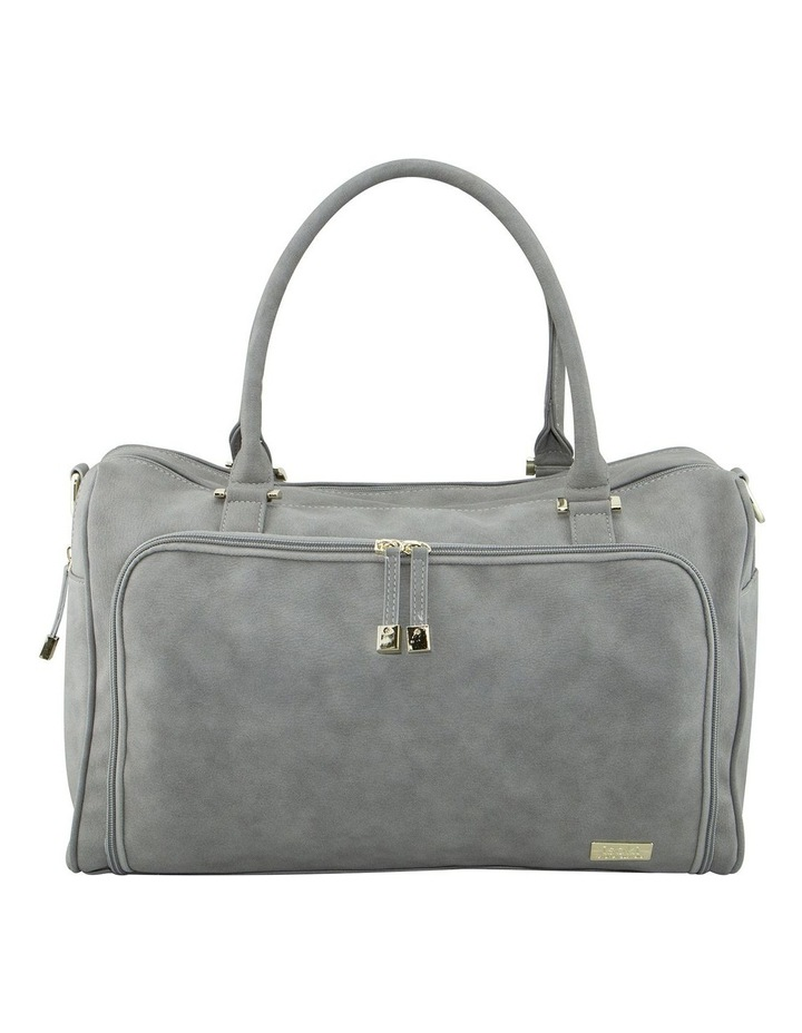 Double Zip Satchel Nappy Bag Stone image 1