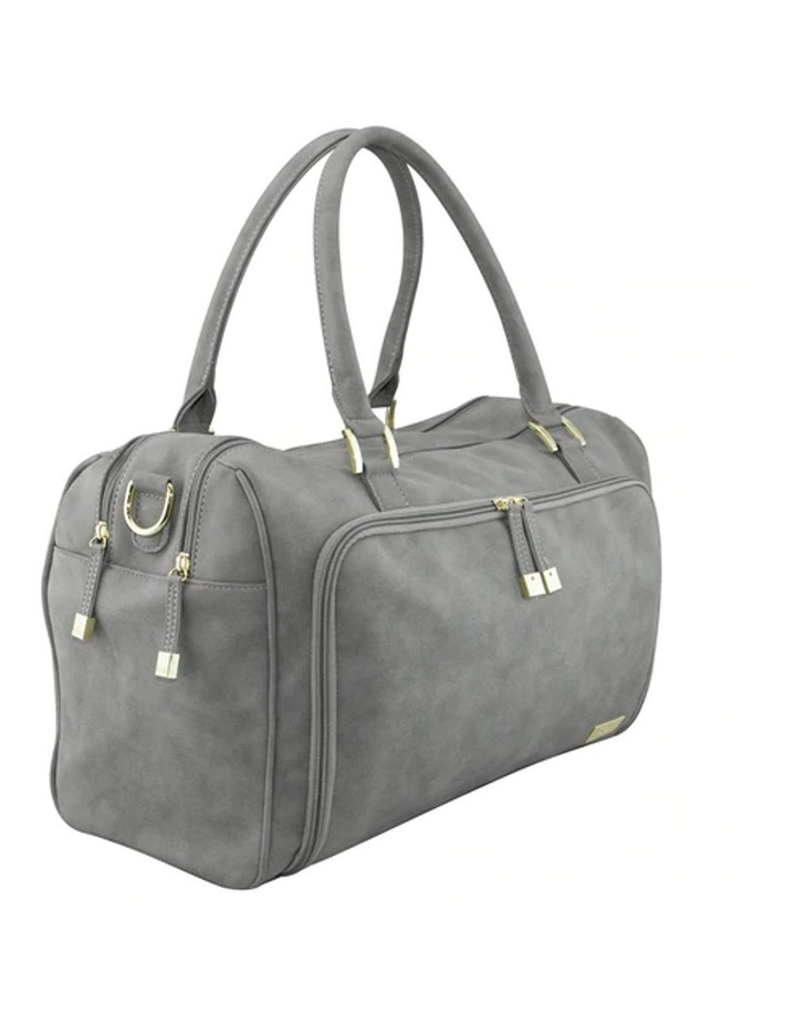 Double Zip Satchel Nappy Bag Stone image 2