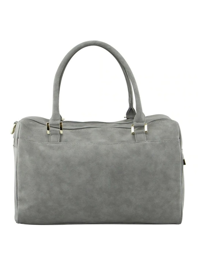 Double Zip Satchel Nappy Bag Stone image 3